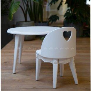 صندلی بچه گانه چوبی سفید