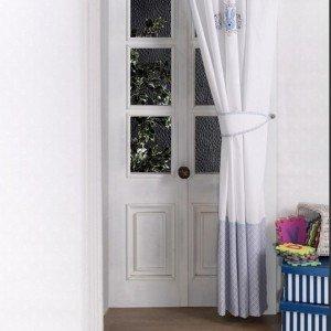 پرده اتاق کودک kidboo طرح rabitto blue