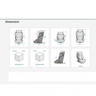 ابعاد صندلی ماشین مکسی کوزی مدل kore i size