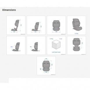 ابعاد صندلی ماشین مکسی کوزی مدل morion