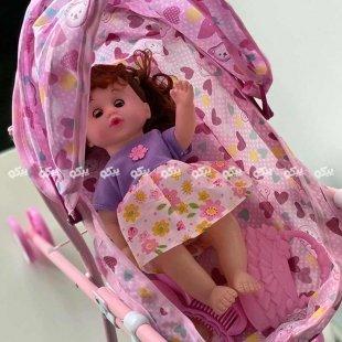 خرید عروسک دخترانه با کالسکه