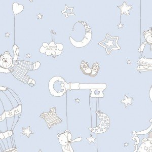 کاغذ دیواری ایتالیایی اتاق کودک - بیم بوم بام 2233