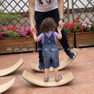 قیمت برد تعادلی کودک چوبی با لایه فوم  curvy سایز کوچک