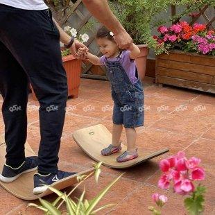 فروش برد تعادلی کودک چوبی با لایه فوم  curvy سایز کوچک