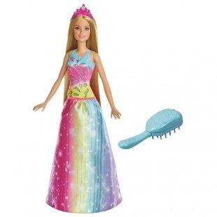 خرید عروسک دخترانه باربی رنگین کمان Dreamtopioa