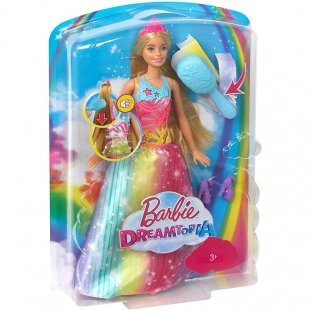 خرید عروسک باربی رنگین کمان با شانه جادویی