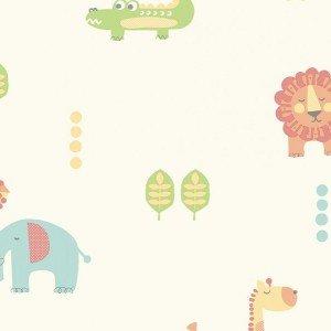 کاغذ دیواری انگلیسی اتاق کودک - کاروسل Dl21104