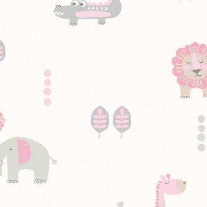 کاغذ دیواری انگلیسی اتاق کودک - کاروسل Dl21106