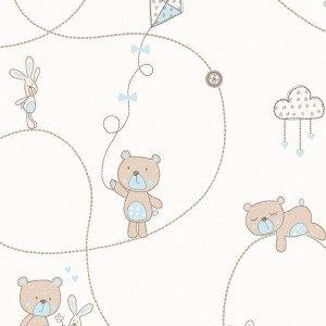 کاغذ دیواری انگلیسی اتاق کودک - کاروسل Dl21102
