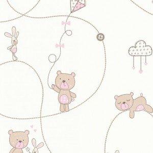 کاغذ دیواری انگلیسی اتاق کودک - کاروسل Dl21103