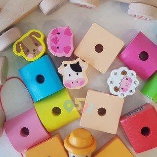 قطار چوبی اسباب بازی