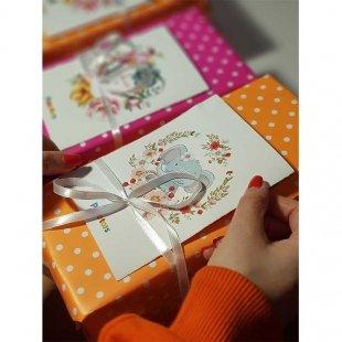 خرید کاغذ کادو یک رو خال خالی(نارنجی)