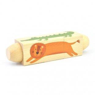خرید پازل چرخشی چوبی حیوانات پیکاردو