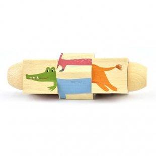 خرید پازل چرخشی چوبی پیکاردو با طرح حیوانات