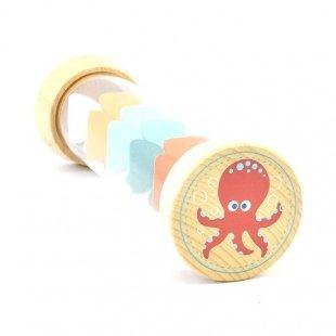جغجغه استوانهای چوبی پیکاردو مدل نهنگ و هشت پا
