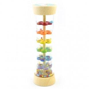 جغجغه استوانهای چوبی پیکاردو مدل یونیکورن و رنگین کمون