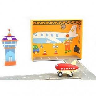 اسباب بازی چوبی فرودگاه