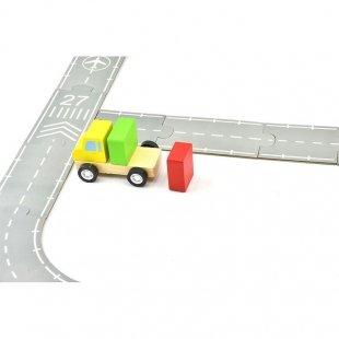 خرید ماشین اسباب بازی با جاده پازلی