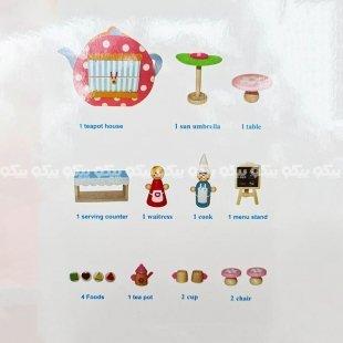 اسباب بازی آشپزی چوبی با آدمک کد BZ-24