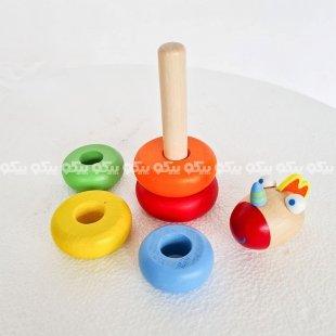 اسباب بازی برج هوش چوبی کد BZ-15-E