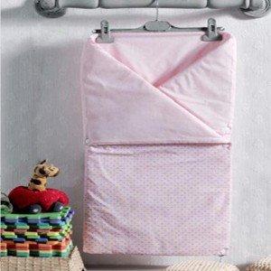 پتو دو کاره kidbooمدل rabitto pink