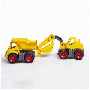 ماشین بیل مکانیکی زرد بزرگ کد 88525