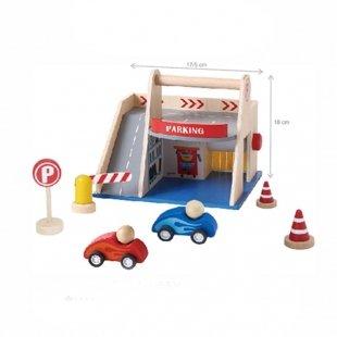 خرید اسباب بازی پارکینگ چوبی 7 تکه پیکاردو کد BZ-22-D