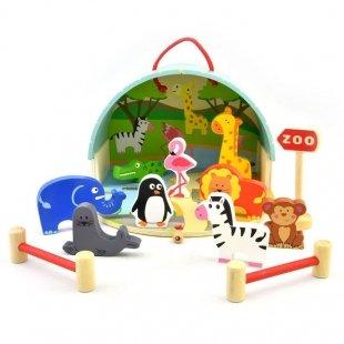 اسباب بازی چوبی باغ وحش 13 تکه پیکاردو