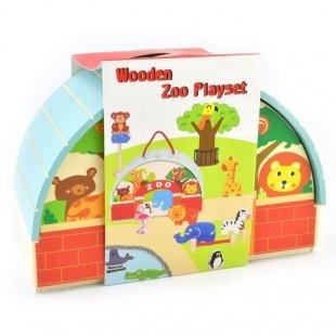خرید اسباب بازی چوبی باغ وحش 13 تکه پیکاردو