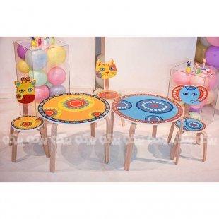 میز کودک چوبی زرافه پیکاردو