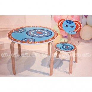 صندلی کودک چوبی مدل فیل کد SD-02-D