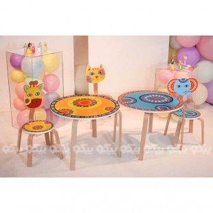 صندلی کودک چوبی مدل گربه کد SD-02-B