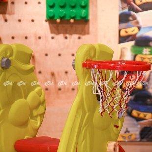 تاب کودک با حلقه بسکتبال