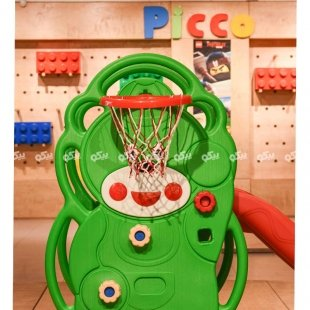 سرسره خانگی با حلقه بسکتبال