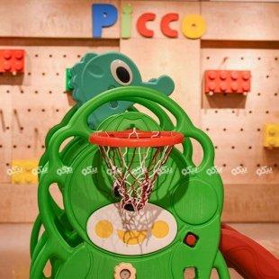 سرسره کودک با حلقه بسکتبال