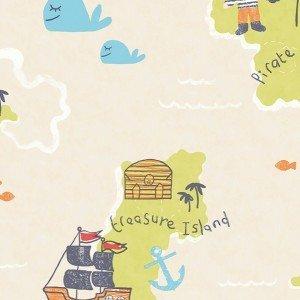 کاغذ دیواری انگلیسی اتاق کودک - کاروسل Dl21140