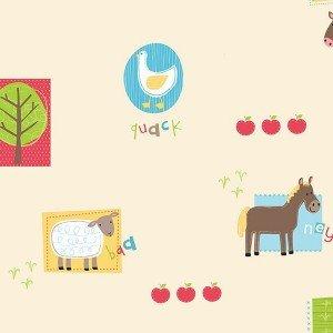 کاغذ دیواری انگلیسی اتاق کودک - هوپلا DL 30720