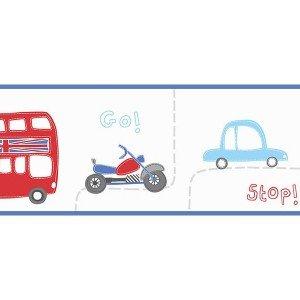 حاشیه ( بوردر ) کاغذ دیواری انگلیسی اتاق کودک - هوپلا DLB 07537