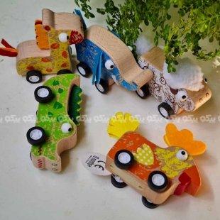 خرید اسباب بازی چوبی ماشین