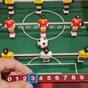 خرید فوتبال دستی چوبی