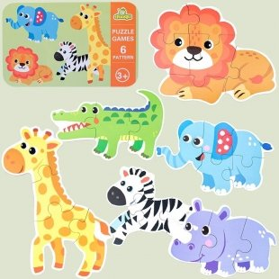 خرید پازل کودک مدل حیوانات جنگل