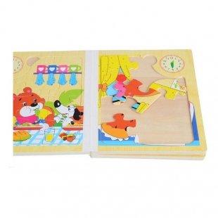خرید پازل کتاب چوبی