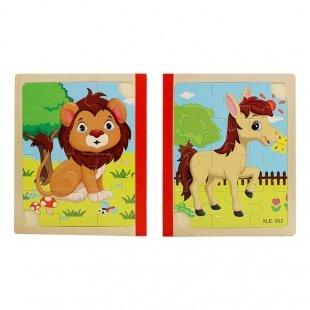 پازل کتابی چوبی مدل حیوانات