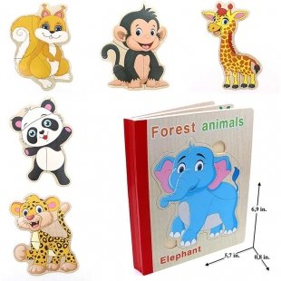 خرید پازل چوبی کودک مدل کتابی