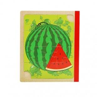 پازل کتابی چوبی میوه ای