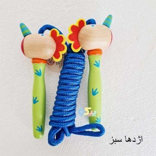 طناب بازی کودک با دسته چوبی یونیکورن