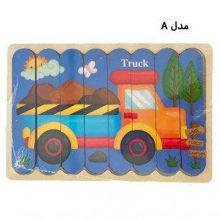 پازل کودک چوبی مدل کامیون