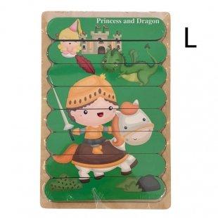 پازل چوبی کودک مدل پرنسس