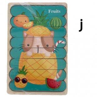 پازل چوبی کودک مدل میوه