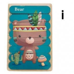 پازل چوبی کودک مدل خرس